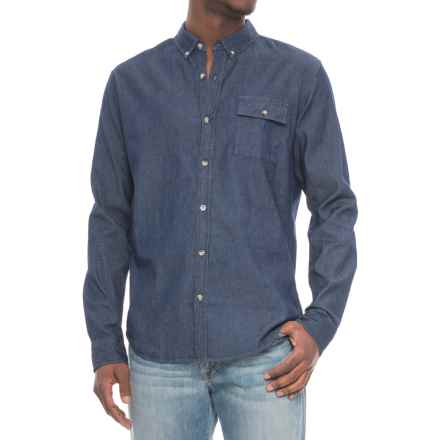 Ezekiel Fort Worth Shirt - Long Sleeve (For Men) in Dark Indigo - Closeouts
