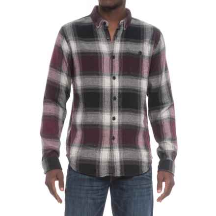 Ezekiel Jakey Plaid Shirt - Cotton, Long Sleeve (For Men) in Wine - Closeouts