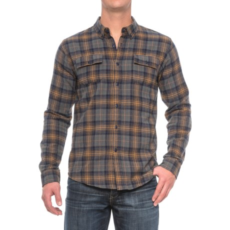 Ezekiel Maguire Plaid Flannel Shirt - Long Sleeve (For Men) in Dark Grey