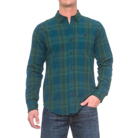 Ezekiel Swamper Flannel Shirt - Long Sleeve (For Men) in Dark Blue