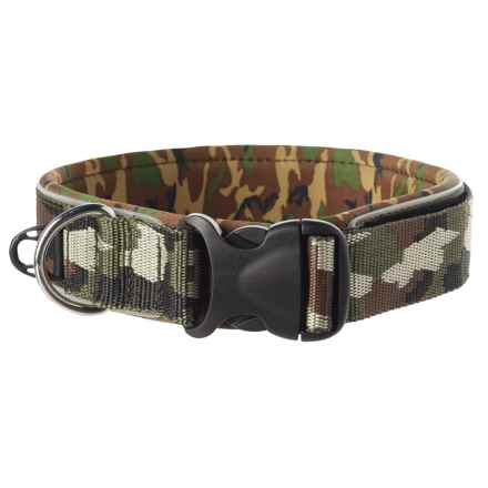 EzyDog Neoprene Wide Dog Collar in Green Camo - Closeouts