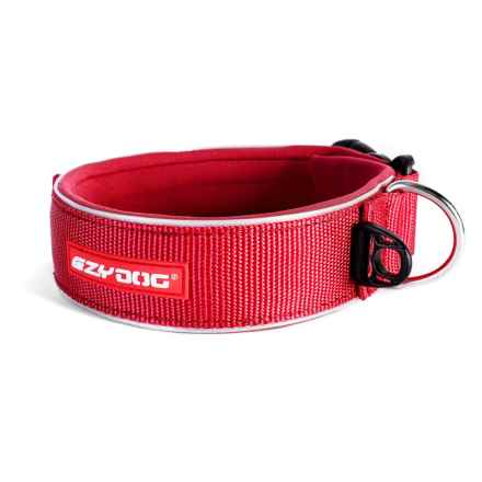 EzyDog Neoprene Wide Dog Collar in Red - Closeouts