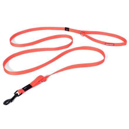 EzyDog Vario 4 Lite Multi-Function Leash - 6' in Orange - Closeouts