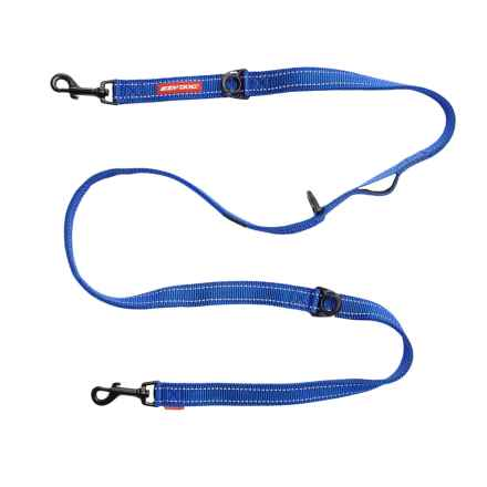 "EzyDog Vario 6 Multi-Function Dog Leash - 5'3"", Swiveling Snap Hook in Blue - Closeouts"