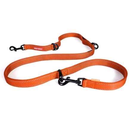 "EzyDog Vario 6 Multi-Function Dog Leash - 5'3"", Swiveling Snap Hook in Orange - Closeouts"