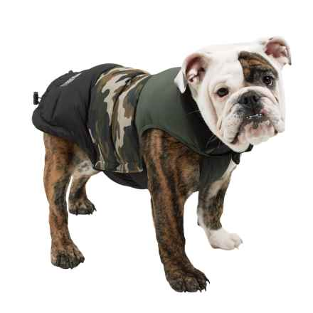 Fab Dog Color-Block Puffer Dog Jacket - Insulated in Camo - Closeouts