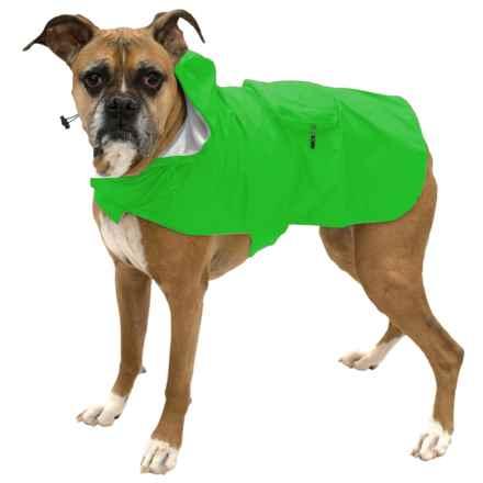 Fab Dog Packaway Dog Rain Coat in Green - Closeouts