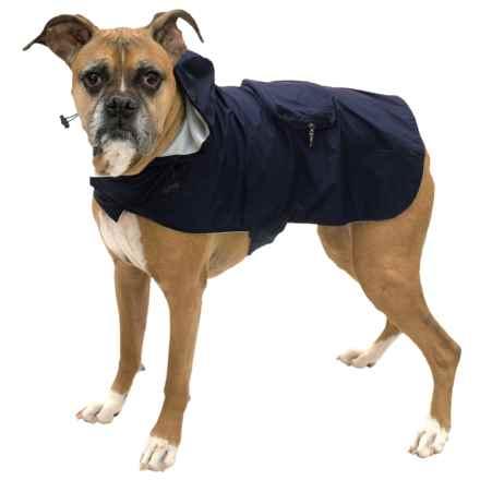 Fab Dog Packaway Dog Rain Coat in Navy - Closeouts