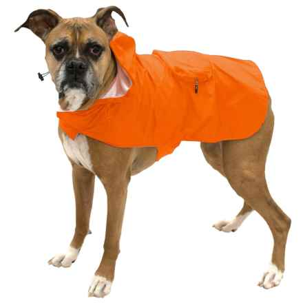 Fab Dog Packaway Dog Rain Coat in Orange - Closeouts