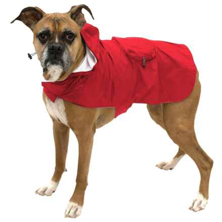 Fab Dog Packaway Dog Rain Coat in Red - Closeouts