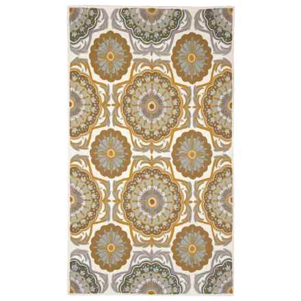 Fab Habitat Heritage Collection Crewel Embroidered Accent Rug - 3x5' in Veldheer - Closeouts