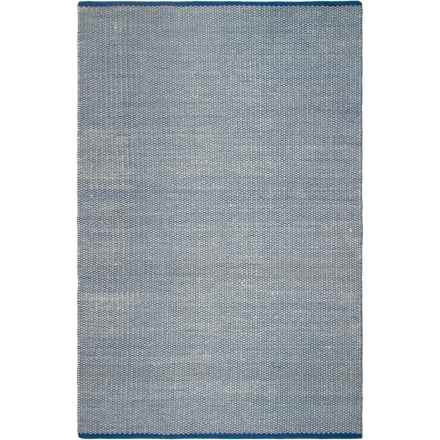 Fab Habitat Indoor-Outdoor Area Rug - 4x6', Recycled Materials in Ranikot Blue - Closeouts
