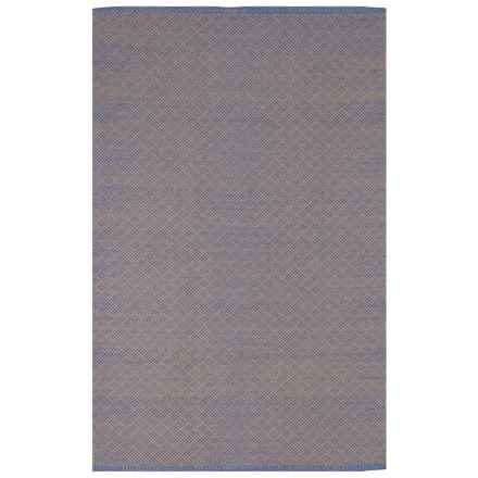 Fab Habitat Zen Collection Karma Cotton Area Rug - 4x6' in Blue/Almond - Closeouts