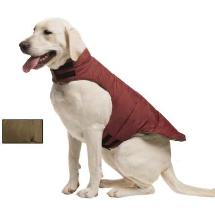 fabdog Peace Puffer Vest - Reversible in Burgandy/Olive - Closeouts
