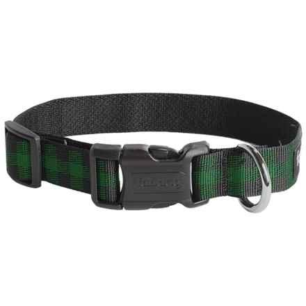 fabdog Recycled Dog Collar in Buffalo Green - Closeouts