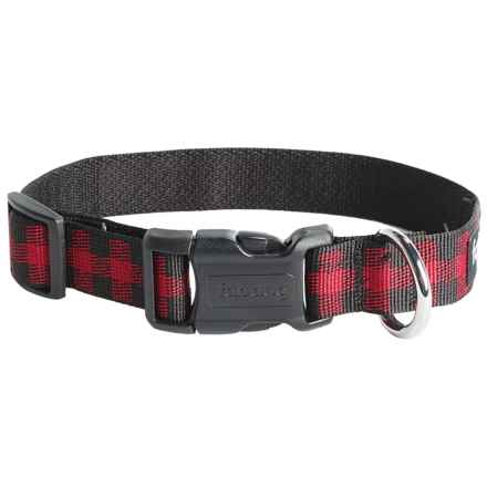 fabdog Recycled Dog Collar in Buffalo Red - Closeouts
