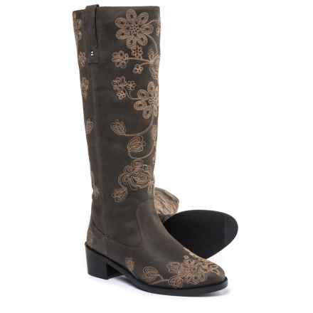 Fabianelli Embroidered Tall Boots - Leather (For Women) in Black - Closeouts