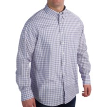 Fairway & Greene Bermuda Poplin Shirt - Button-Up, Long Sleeve (For Men) in White/Blue - Closeouts