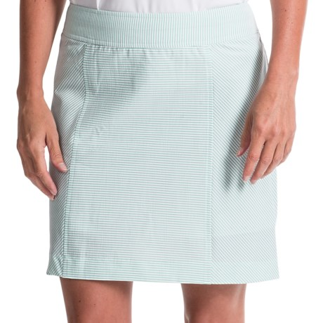 Fairway and Greene Camila Seersucker Stripe Skort Built In Shorts (For Women)