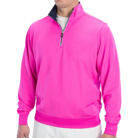 Fairway & Greene Caves Tech Pullover - Zip Neck, Long Sleeve (For Men) in Lemon Grove