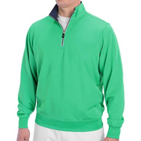 Fairway & Greene Caves Tech Pullover - Zip Neck, Long Sleeve (For Men) in Real Jade