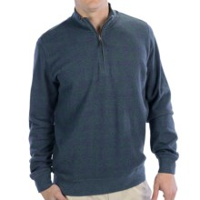 Fairway & Greene Check Pullover - Zip Neck, Long Sleeve (For Men) in Navy/Forest - Closeouts