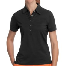 Fairway & Greene Claire Polo Shirt - Stretch Nylon, Short Sleeve (For Women) in Black - Closeouts