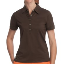 Fairway & Greene Claire Polo Shirt - Stretch Nylon, Short Sleeve (For Women) in Mink - Closeouts