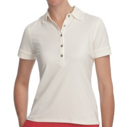Fairway & Greene Claire Polo Shirt - Stretch Nylon, Short Sleeve (For Women) in Vanilla