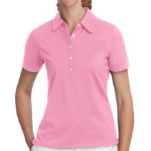 Fairway & Greene Claire Polo Shirt - Stretch Nylon, Short Sleeve (For Women) in Wild Rose - Closeouts