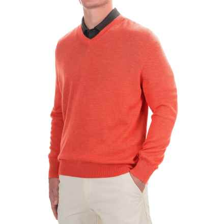 Fairway & Greene Classic V-Neck Sweater - Merino Wool (For Men) in Flame - Closeouts