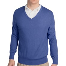 Fairway & Greene Classic V-Neck Sweater - Merino Wool (For Men) in Heathered Blue - Closeouts