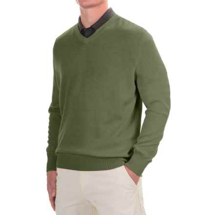 Fairway & Greene Classic V-Neck Sweater - Merino Wool (For Men) in Pine - Closeouts