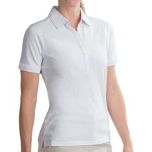 Fairway & Greene Contrast-Stitch Polo Shirt - Short Sleeve (For Women) in White - 2nds