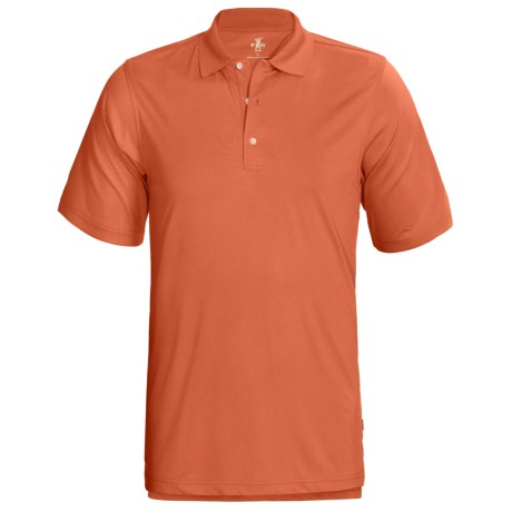 Fairway & Greene Corporate Polo Shirt - Short Sleeve (For Men) in Papaya