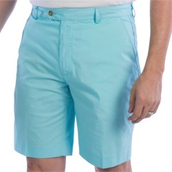 Fairway & Greene Cotton Poplin Shorts - Flat Front (For Men) in Bayside