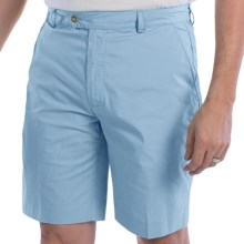 Fairway & Greene Cotton Poplin Shorts - Flat Front (For Men) in Lagoon - Closeouts