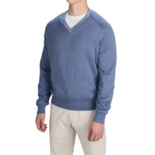 Fairway & Greene Cricket Wind Sweater - V-Neck (For Men) in Dark Chambray Blue Heather - Closeouts