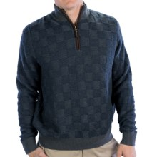 Fairway & Greene Glen Plaid Cashmere Blend Sweater - Zip Neck (For Men) in Navy - Closeouts