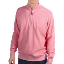 Fairway & Greene Herringbone Sweater - Zip Neck (For Men) in Pink - Closeouts