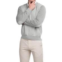 Fairway & Greene Herringbone Wind Sweater - V-Neck (For Men) in Stormy Heather - Closeouts
