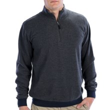 Fairway & Greene Houndstooth Sweater - Cotton, Zip Neck (For Men) in Charcoal - Closeouts