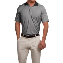 Fairway & Greene Houndstooth Tech Polo Shirt - Short Sleeve (For Men) in Black - Closeouts