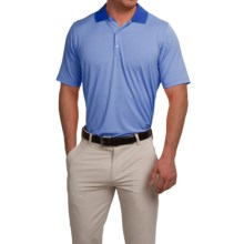 Fairway & Greene Houndstooth Tech Polo Shirt - Short Sleeve (For Men) in Bold Blue - Closeouts