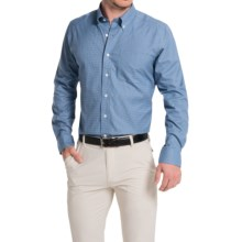 Fairway & Greene Houndstooth Twill Sport Shirt - Long Sleeve (For Men) in French Blue - Closeouts