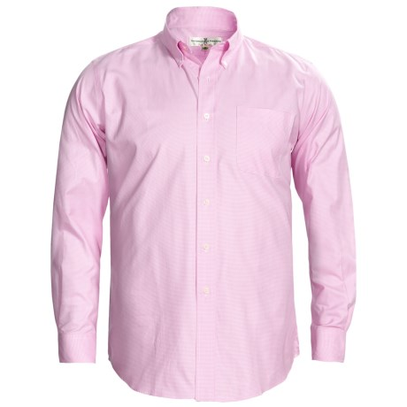 Fairway & Greene Houndstooth Twill Sport Shirt - Long Sleeve (For Men) in Pink