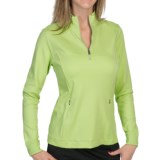 Fairway & Greene Jenna Pima Golf Pullover - Zip Neck, Long Sleeve (For Women)