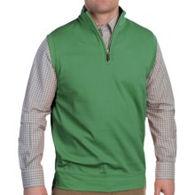 Fairway & Greene Jupiter Hills Vest - Pima Cotton Pique, Zip Neck (For Men) in Kelly Green - Closeouts