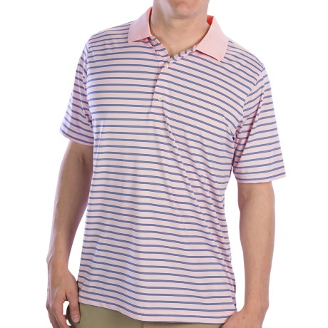 Fairway & Greene Lighting Tech Knit Polo Shirt - Short Sleeve (For Men) in Antique Pink