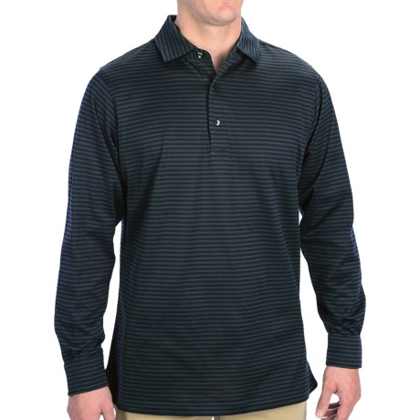 Fairway & Greene Loch Pureformance Polo Shirt - Long Sleeve (For Men) in Bottle
